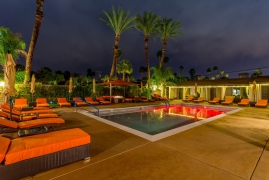 <p>Pool Area at Night</p>